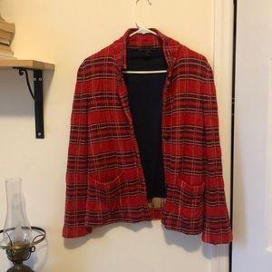 Marc Jacobs red plaid blazer